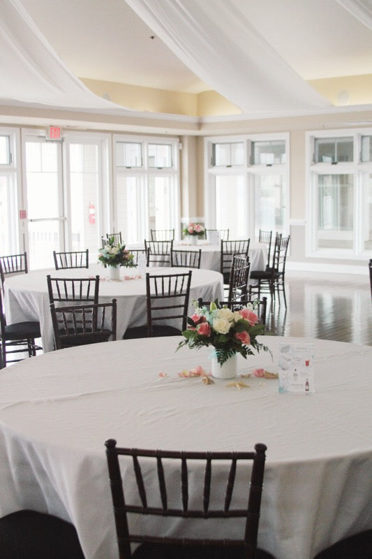 celebration of life memorial service flowers // ocean themed celebration // beach wedding // ocean pines yacht club // little miss lovely floral design