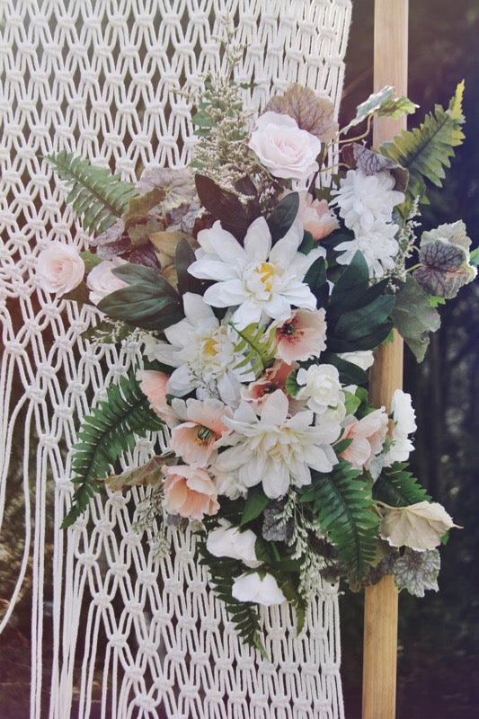 blush collection // straight spray // little miss lovely floral design // artificial rental flowers