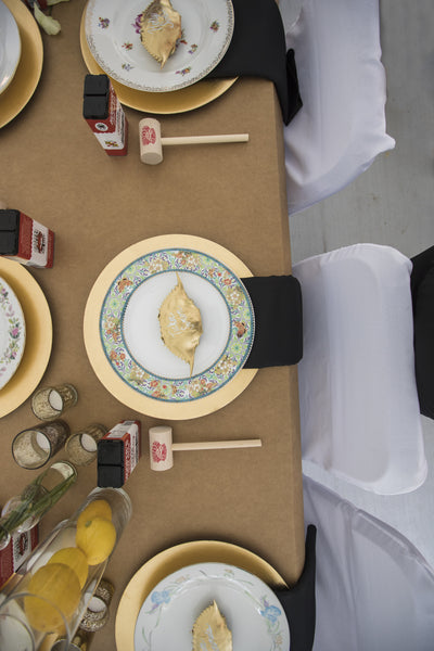 little miss lovely floral design // china plate rentals
