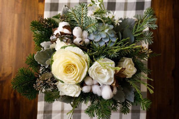 little miss lovely floral design // winter wedding birthday event at Atlantic Sands Hotel in Rehoboth DE // The Beards Photography