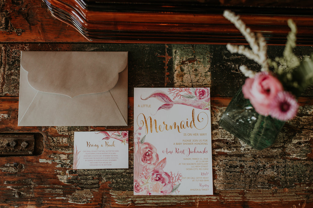 mermaid baby shower at Seacrets Distilling Co. // Ocean City, Maryland event // Little Miss Lovely Floral Design // Leah Adkins Photography