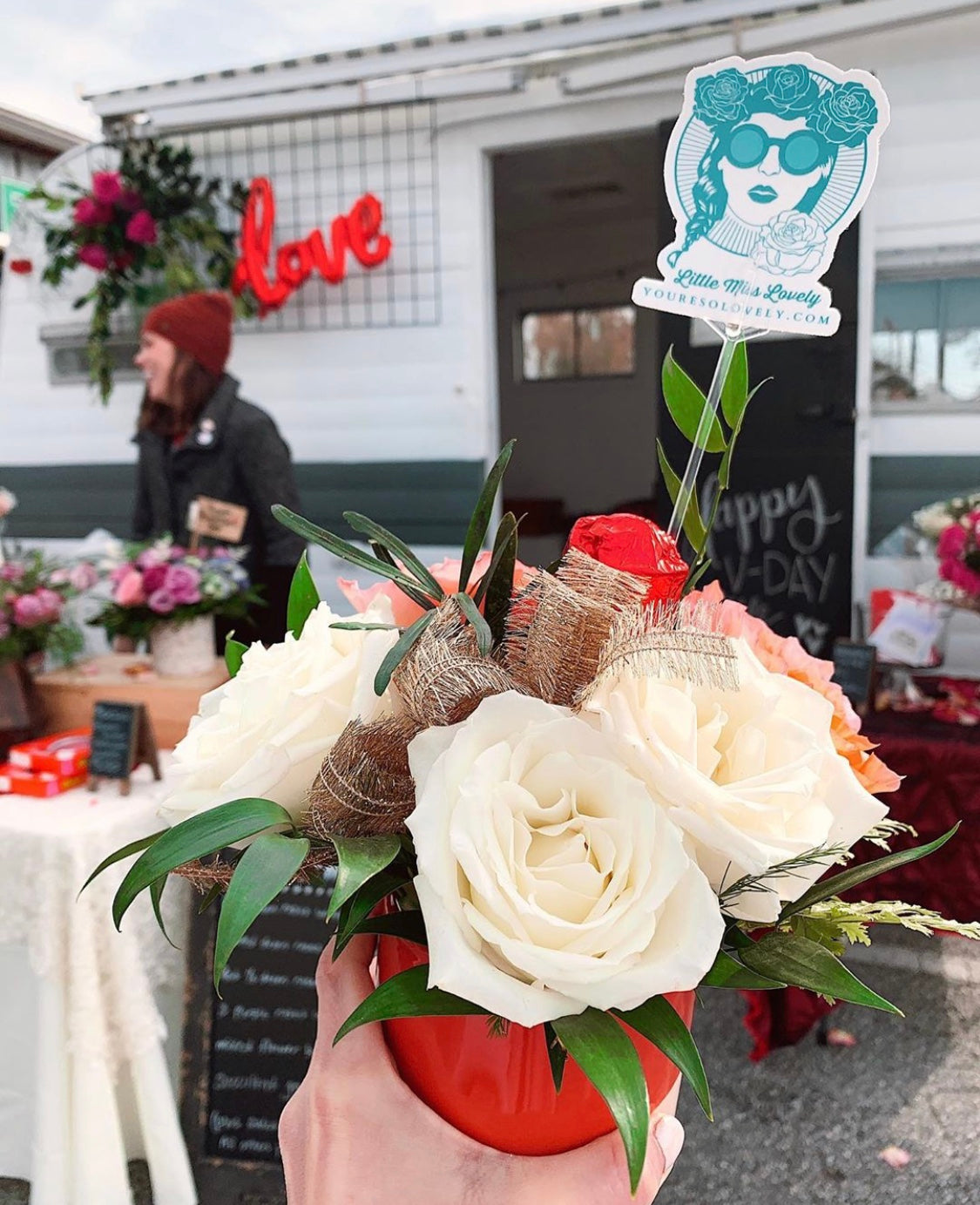 valentine's day flower pop up shop // ocean city, md florist // little miss lovely floral design