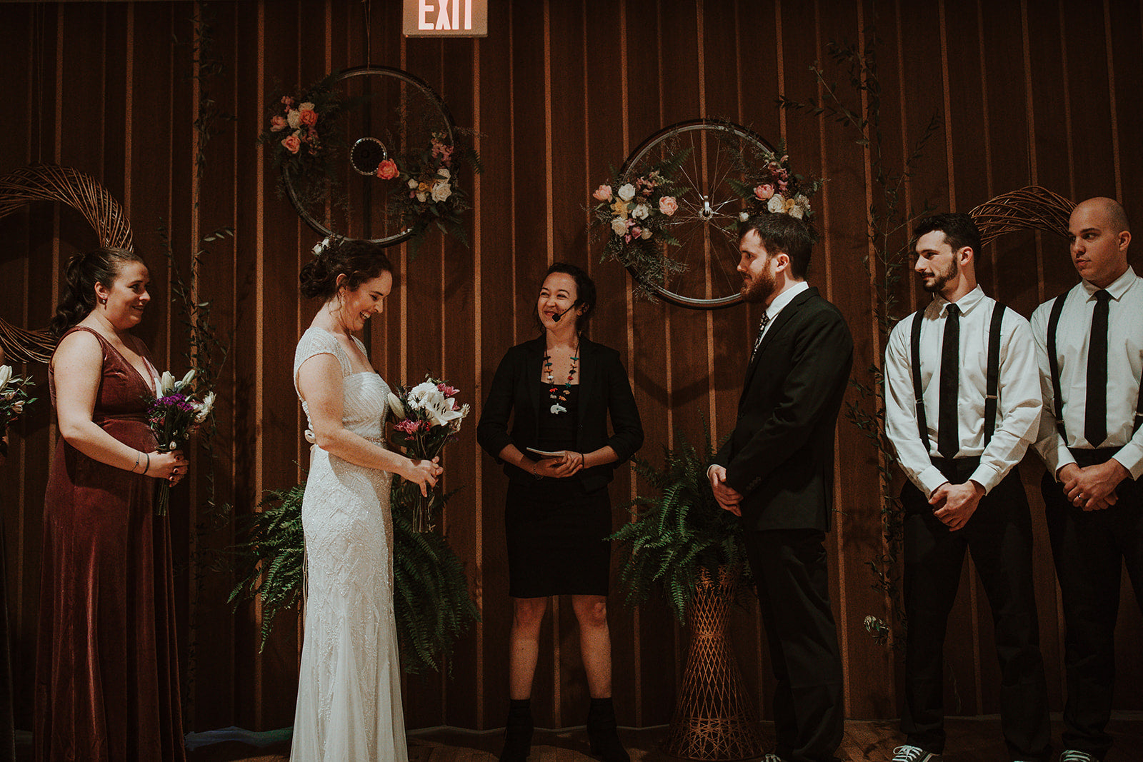 little miss lovely floral design // ocean city md american legion wedding // bicycle themed wedding flowers