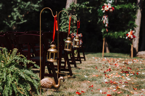 little miss lovely floral design // gold small lantern rentals