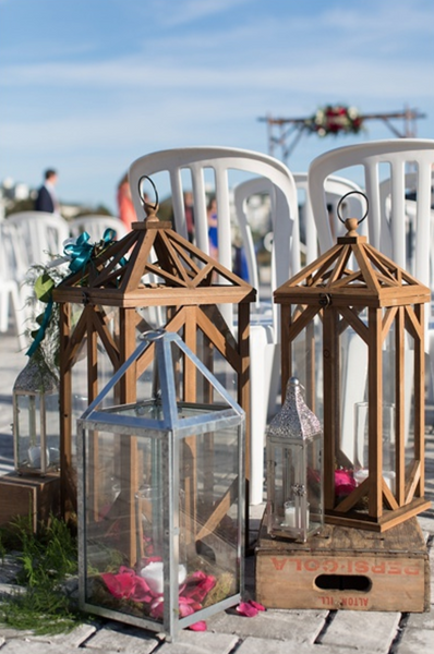 little miss lovely floral design // silver metal wrought iron lantern rentals