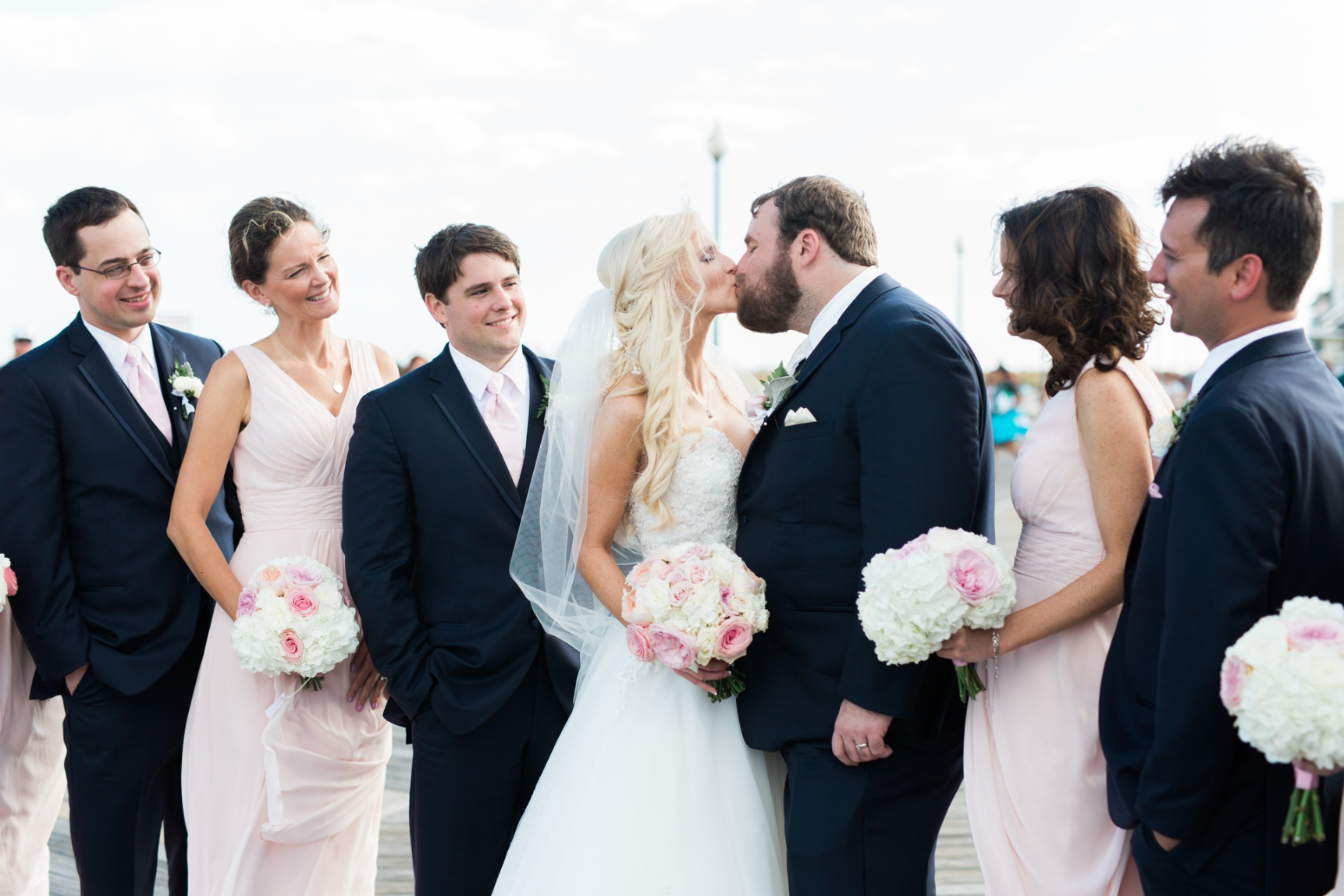 little miss lovely floral design // white and blush pink fall wedding // Hannah Bjorndal Photography // Indian River Life Saving Station Wedding Rehoboth Beach DE