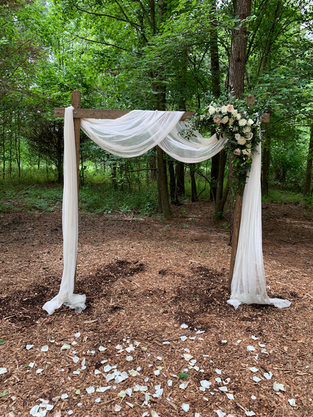 Rustic Squared Arbor - Little Miss Lovely Floral Design Wedding Rental