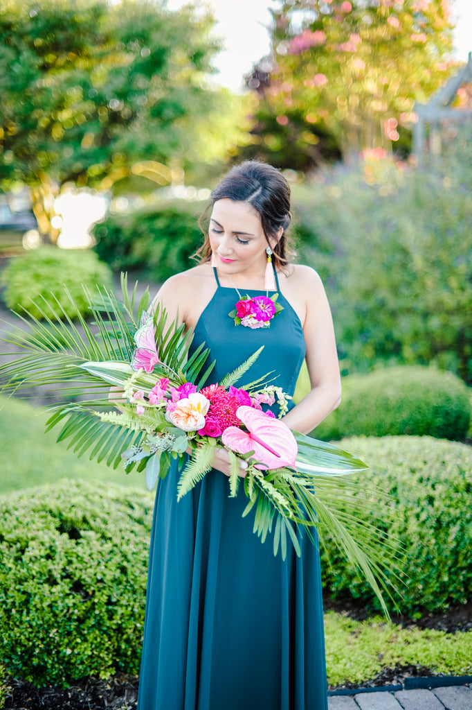 little miss lovely floral design // tropical wedding bouquet // madison short photography // christine mcfarlane events