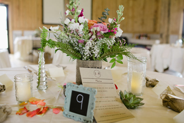 little miss lovely floral design // mason jar candles // ocean city maryland