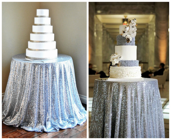 little miss lovely - silver sequin tablecloth