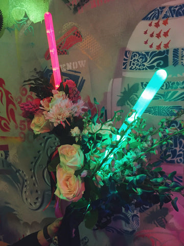 little miss lovely floral design // star wars flower light sabers // may the fourth