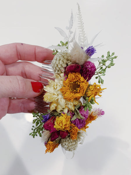 Dried Flower Hair Comb