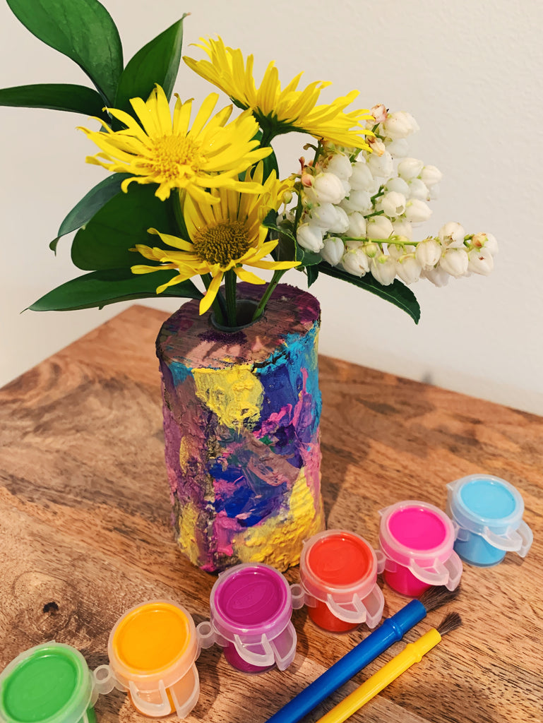 DIY Kids Craft - Branch Vases