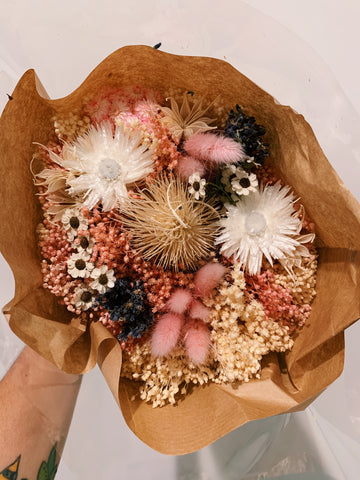 Pink Dried Floral Bouquet