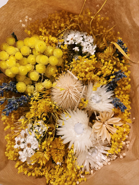 Yellow Dried Floral Bouquet
