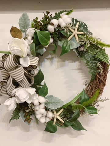 Artificial Floral Grapevine Wreath