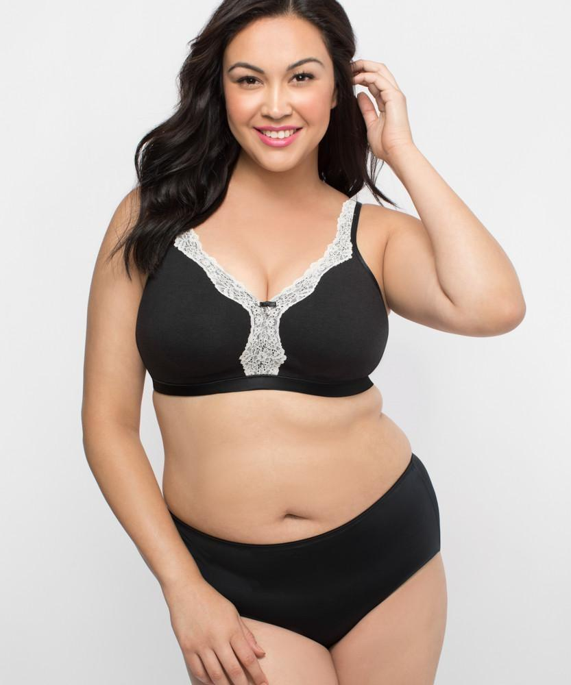 66f69f21b41 Curvy Couture Cotton Luxe Unlined Wirefree 1010 - The Lingerie Store USA
