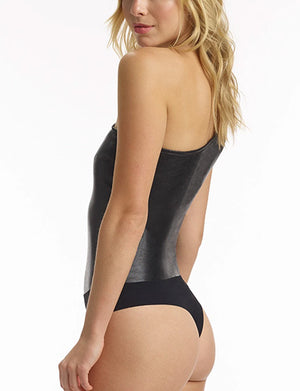 Commando Faux Leather One Shoulder Body BDS011