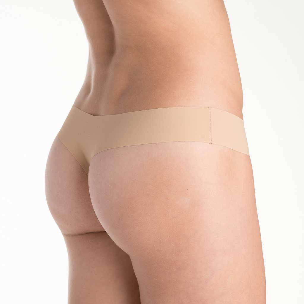 Commando Laser Cut Seamless Low Rise Thong CT
