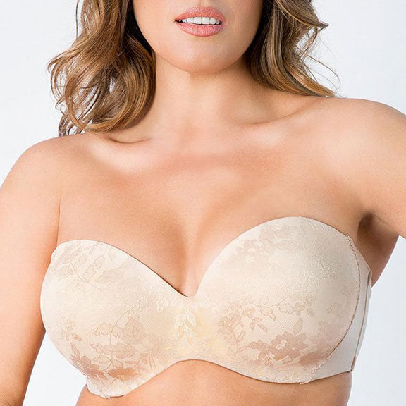 f9c15a92cfb Curvy Couture Smooth Strapless Multi-Way Bra 1290 - The Lingerie ...