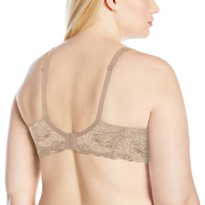 Curvy Couture 1102 Lace Shine T-Shirt Bra - Bombshell Nude