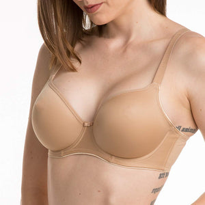 The Fantasie Smoothing Balcony Bra 4520...Seamfree Smoothing Bra for All of Your Low Cut T-shirts and Knits! In sizes 34-38C, 30-40D,DD,E,F and 30-38FF,G...
