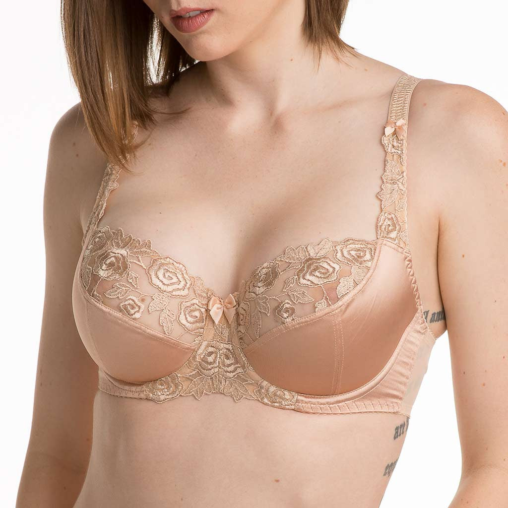 The Fantasie Belle Underwire Balcony Cup 6010...A Touch of Subtle Sexiness In A Full Figure Bra. In sizes 34-40B, 30-42C,D,DD,E 30-40F and 30-38FF...