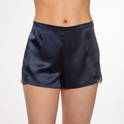 Ginia Baroque Lace Silk Shorts GCL101