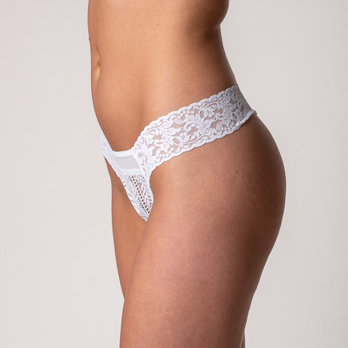 Hanky Panky Linear Lace Low Rise Thong 1G1671