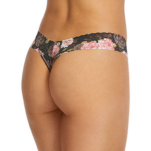 Hanky Panky Shadow Roses Low Rise Thong 2G1586