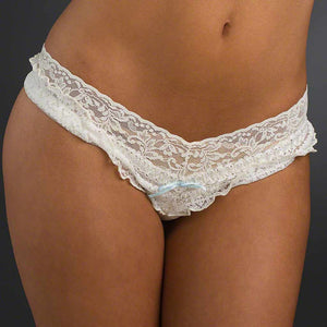 Hanky Panky 4810N2 Rosalyn Low Rise Bridal Thong