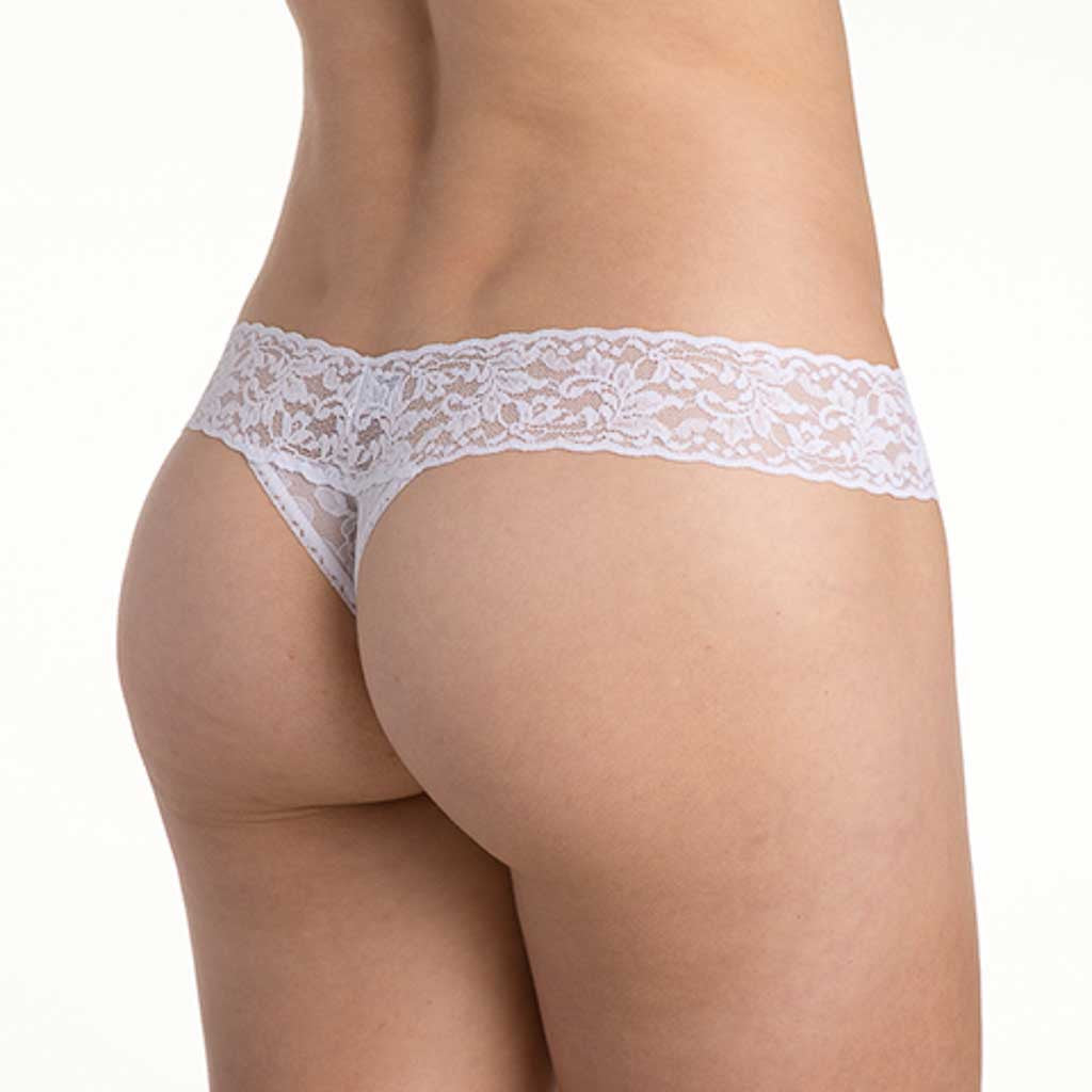 Hanky Panky 491041 Signature Lace Low Rise Bridal Thong