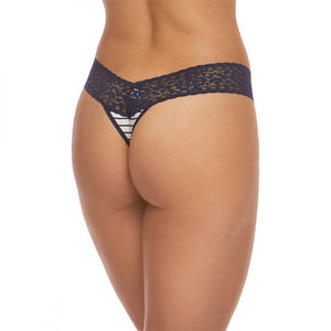 d06dc5432 Hanky Panky Striped Jersey Low Rise Thong 651581 - The Lingerie ...