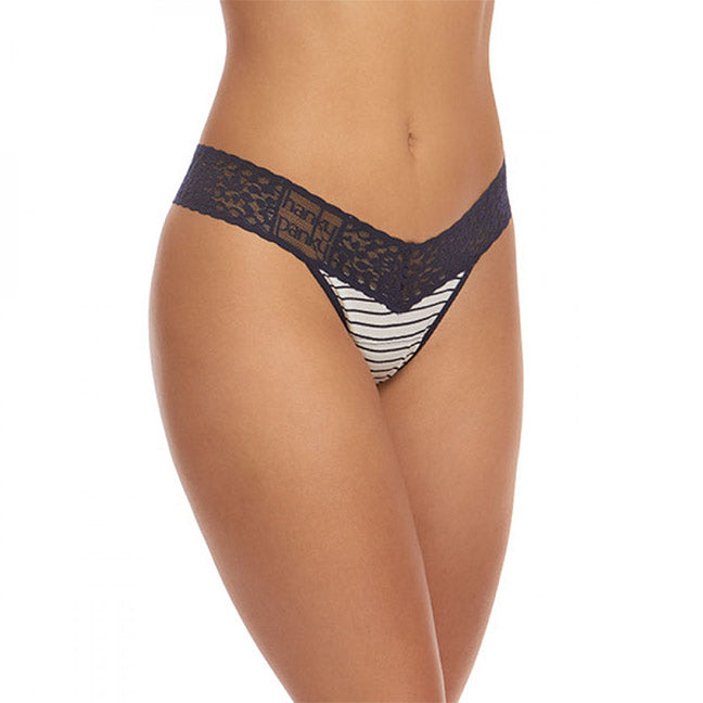bfd1e48cb1eb Hanky Panky Striped Jersey Low Rise Thong 651581 - The Lingerie ...