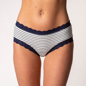Hanky Panky Striped Jersey Girl-Kini Panty 652431