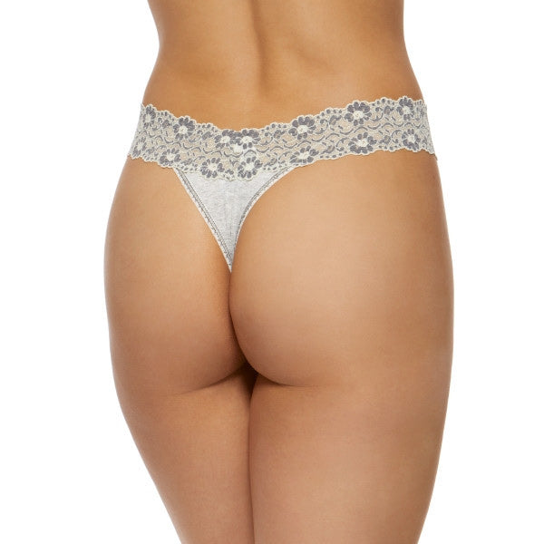 Hanky Panky Heather Jersey Original Rise Thong 681801