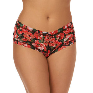 Hanky Panky Pretty Poppies Boyshort 6B1286
