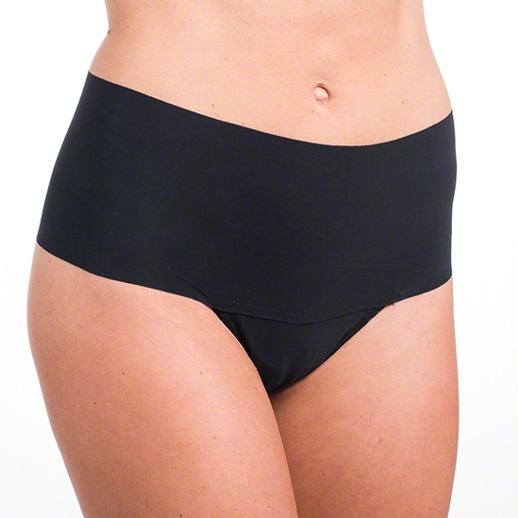 The Hanky Panky Godiva Hi-Rise Thong 6J1921 is a silky microfiber thong featuring a laser cut waist that hides muffin tops and doesn't show under clothes.