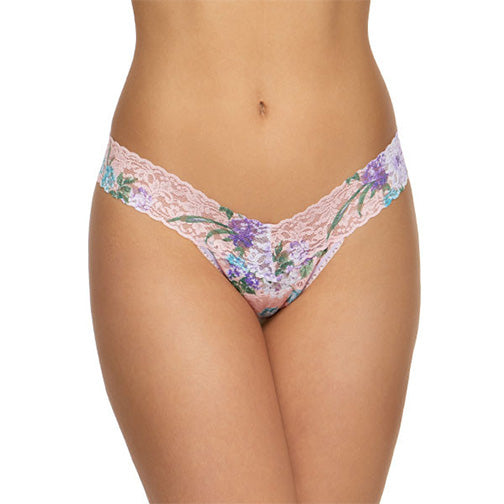 Hanky Panky Ashley Floral  Low Rise Thong 701584