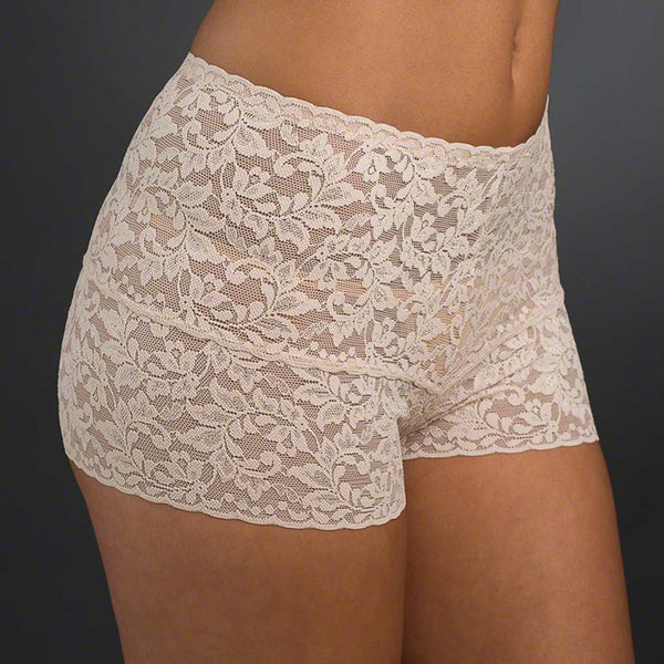 47beb6f308 Hanky Panky Signature Lace Retro Hot Pants 9K1251 features sheer stretch  lace