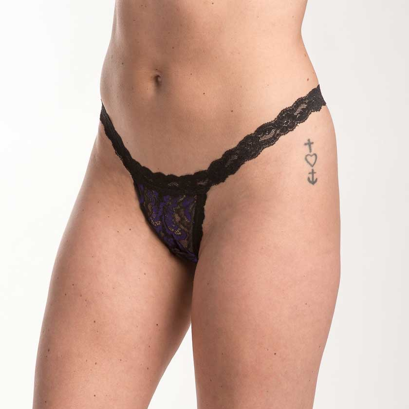 Hanky Panky Plumage Lace Open G-String 9Q1304