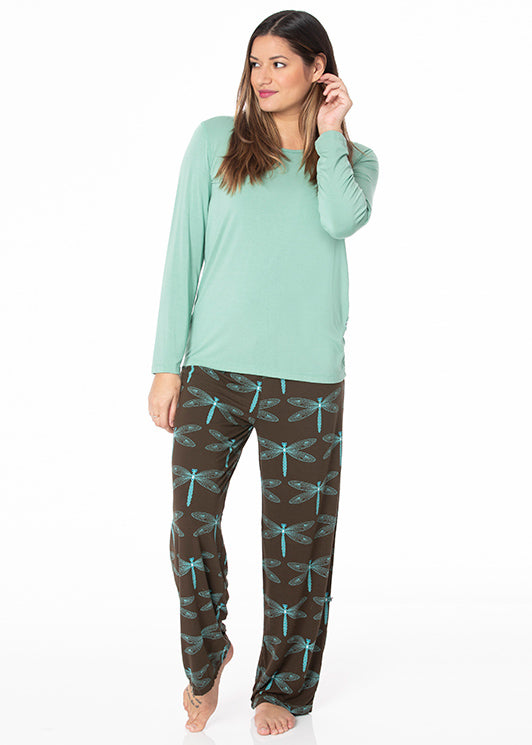 Kickee Long Sleeve Loosey Goosey PJ Set PRD-WLGP57