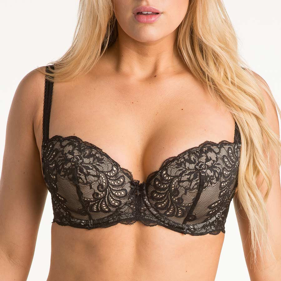 8b09b302c80ae Le Mystere Sophia Lace Bra with Memory Foam 2435 - The Lingerie ...