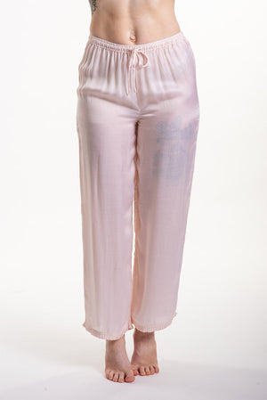 Loungerie PJ Satin Pant with Ruffles LRPPS-PS