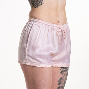 Loungerie PJ Satin Short with Ruffle LRPSS-PS