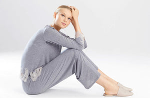 Natori Sleepwear Luxe Shangri-La Long Sleeve PJ Set F76356