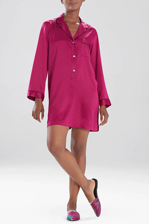 Natori Sleepwear Feathers Satin Sleepshirt H72057