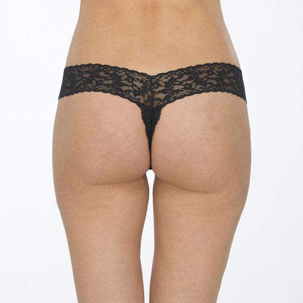 Hanky Panky Lace Crotchless Thong 481001