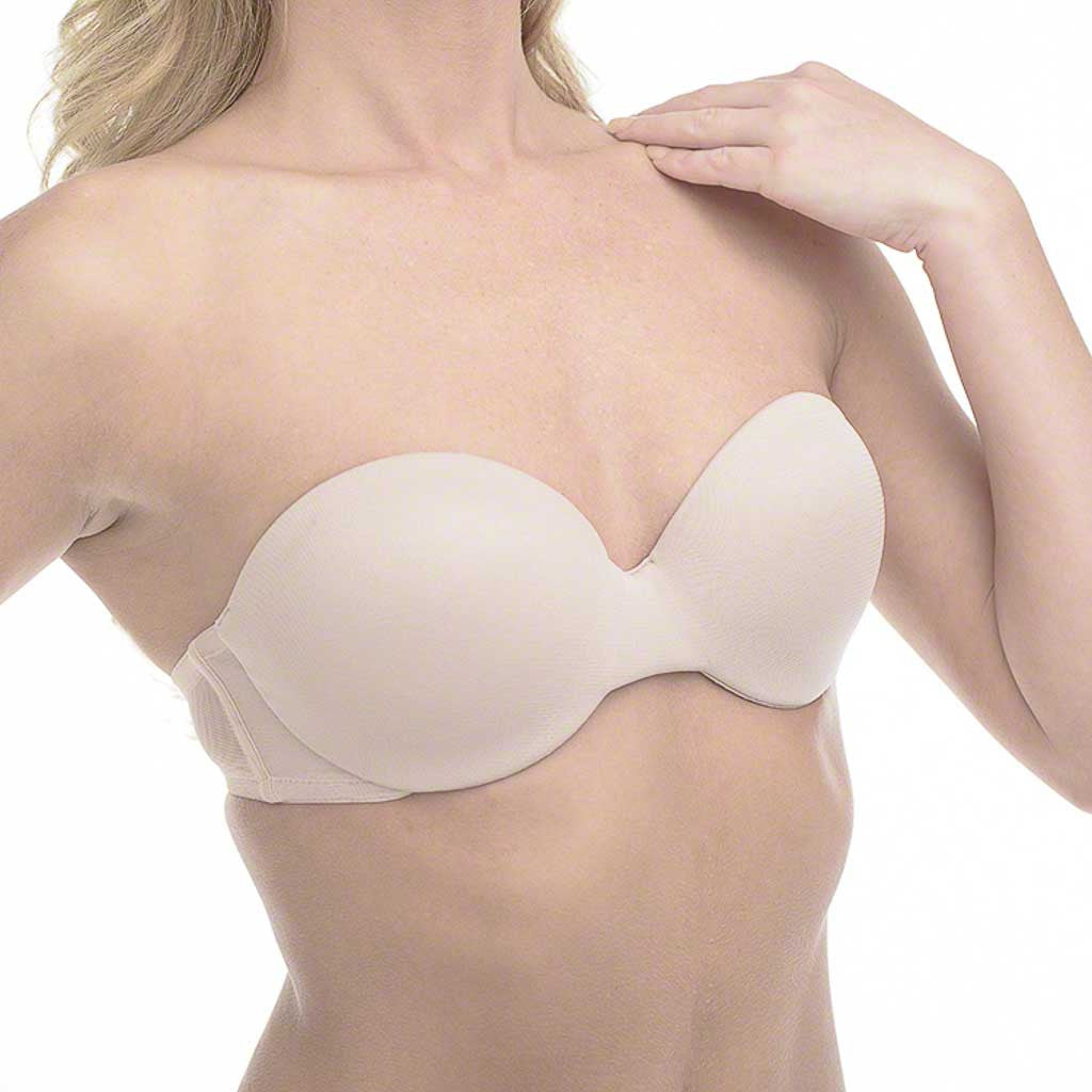 On Gossamer 014504 Mesh Push Up Strapless Bra