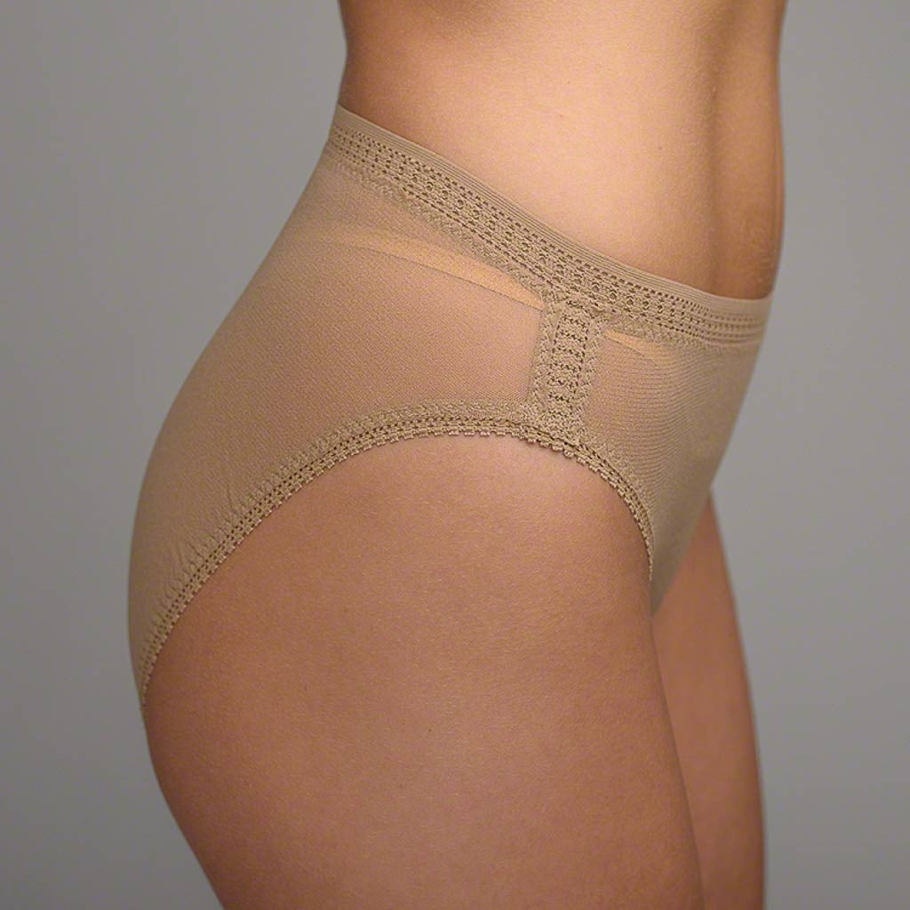 The OnGossamer Mesh Panty 3012 is a hi cut brief made of soft, comfortable nylon mesh..